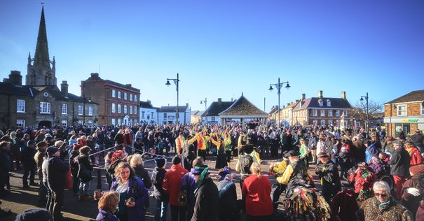 Photographer Ben Potton. Whittlesey Market place on Strawbear day 2020